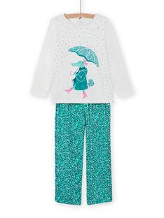 Conjunto pijama padrão decorativo crocodilo menina MEFAPYJCRO / 21WH1182PYJ001