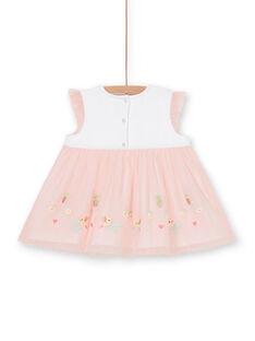Vestido branco e rosa bebé menina LIBALROB4 / 21SG09O3ROB000