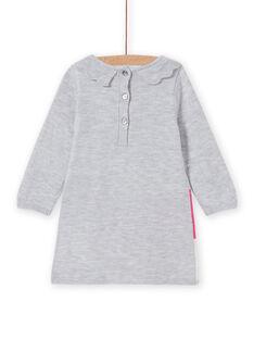 Vestido em malha padrão decorativo bebé menina MIPLAROB2 / 21WG09O2ROBJ920