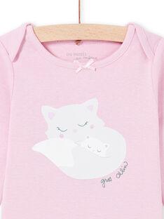Body de mangas compridas parma com padrões gatos bebé menina MEFIBODMAM / 21WH13B5BDLH702
