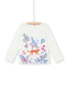 T-shirt branca estampado vegetal e leopardos LABLETEE2 / 21S901J1TML001