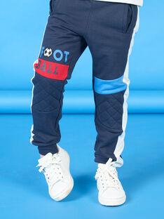 Calças de fato de treino azul-noite menino LOHAJOG / 21S902X1JGB705