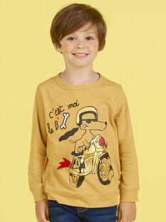 T-shirt mostarda menino MOMIXTEE3 / 21W902J5TMLB101