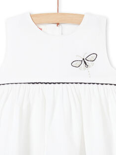 Vestido branco em veludo bebé menina LIPOEROB1 / 21SG09Y2ROB001