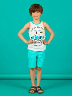 Camisola de alças cru e verde criança menino LOBONDEB / 21S902W1DEB001