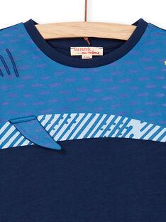T-shirt azul com animação tubarão - Criança Menino LONAUTEE2 / 21S902P1TML070