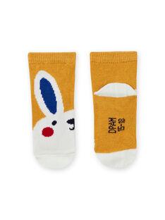 Meias amarelo padrão coelho bebé menino MYUMIXCHO1 / 21WI10J2SOQ117