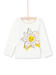 T-shirt cru e amarelo menina MATUTEE3 / 21W901K1TML001