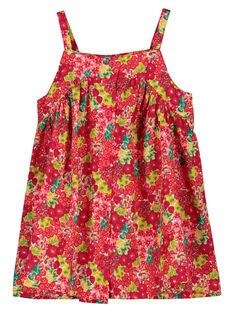 Vestido leve de alças bebé menina FIYEROB1 / 19SG09M1ROB000