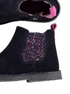 Boots chelsea crosta de couro azul-marinho criança menina GFBOOTMAR / 19WK35IDD0D070