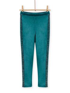 Leggings azul-pato em veludo forradas menina MAJOLEG4 / 21W901N8PAN714