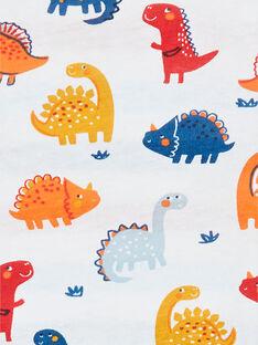 T-shirt reversível branca e vermelha com estampado dinossauros em algodão bebé menino LUCANTEE2 / 21SG10M2TML000