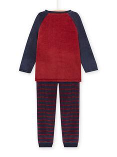 Conjunto pijama padrão de monstro com detalhes fosforescentes menino MEGOPYJMON / 21WH129APYJ719