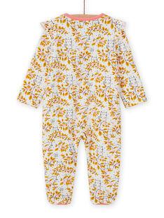 Babygro cru estampado florido bebé menina MEFIGREAOP / 21WH1384GRE001