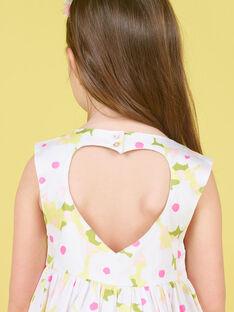 Vestido sem mangas branco e verde estampado florido LAJAUROB1 / 21S901O4ROB000
