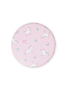 Lancheira de metal rosa com padrão de unicórnios menina MYACLABOI / 21WI01G1D5OC205