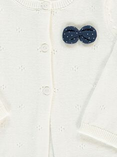 Girls' knitted cardigan CIJOGIL1A / 18SG09R1CAR001