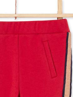 Calças vermelho às riscas menina MAJOMIL5 / 21W90114PAN511