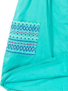 Vestido bordado com alças verde menina JAMAROB3 / 20S901P3ROB629