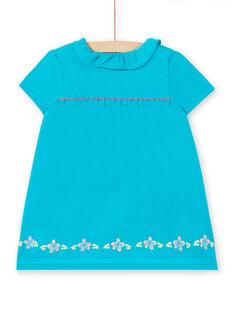 Vestido turquesa bebé menina LIVERROB4 / 21SG09Q1ROBC216