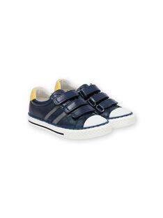 Sapatilhas azul-marinho e amarelo menino JGBASLIAGM / 20SK36Y1D3F070