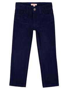 Calças em veludo Azul-Marinho Regular GOJOPAVEL1 / 19W90232D2B070