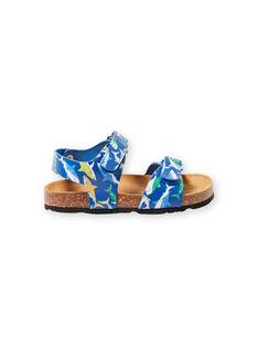 Sandálias azul-marinho com padrão tubarão menino LGNUREQUIN / 21KK3654D0E070