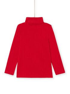 Camisola interior lisa vermelha menino MOJOSOUP2 / 21W902N2SPL505