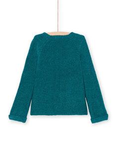 Casaco de mangas compridas liso azul pato menina MAJOCAR2 / 21W90115CAR714