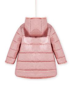 Parca com capuz reversível rosa em pelo sintético menina MACOMPARKA / 21W90164PAR303