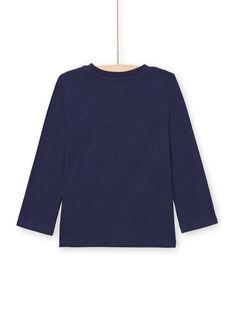 T-shirt azul-marinho menino MOMIXTEE5 / 21W902J4TML717