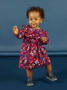 Vestido de mangas compridas com estampado florido colorido bebé menina MIPAROB1 / 21WG09H6ROBD319