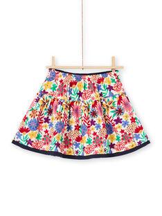 Saia reversível com franzidos e estampado florido colorido menina MAMIXJUP2 / 21W901J1JUP009