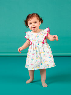 Vestido azul bebé menina LIVERROB1 / 21SG09Q2ROBG622