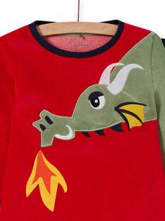 Conjunto pijama T-shirt e calças com padrão de dragão menino MEGOPYJDRA / 21WH1287PYJF504