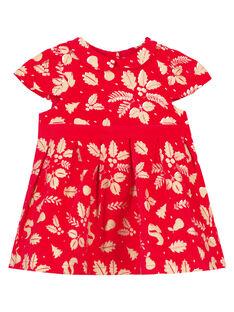 Vestido estampado brilhante menina GINOROB2 / 19WG09V2ROBF521