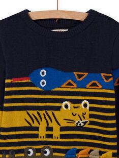 Camisola azul-noite padrão animais menino MOKAPUL / 21W902I1PUL705