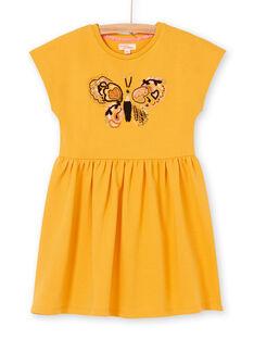 Vestido amarelo LAPOEROB2 / 21S901Y2ROB107