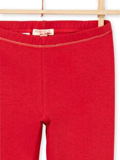 Leggings vermelhas detalhes dourados menina MYAJOLEG1 / 21WI0113CAL511