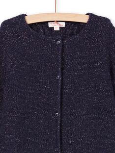Casaco de mangas compridas liso azul noite menina MAJOCAR1 / 21W90113CARC205