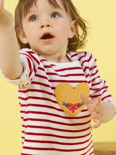 T-shirt reversível branco e vermelho bebé menina MIMIXTEE / 21WG09J1TML001