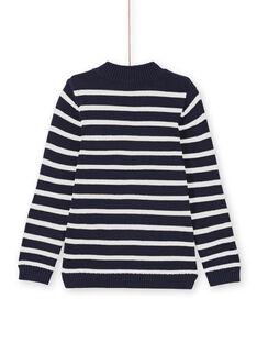 Camisola azul-marinho e branco às riscas menino MOJOPUL1 / 21W90213PUL001